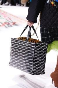 Balenciaga Black Logo Print Tote Bag 2 - Fall 2018