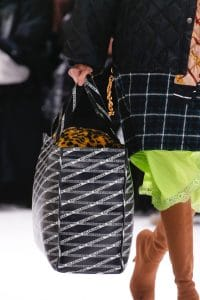 Balenciaga Black Logo Print Tote Bag - Fall 2018