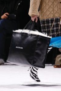 Balenciaga Black Logo Tote Bag - Fall 2018
