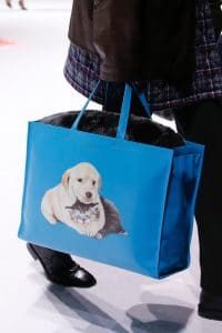 Balenciaga Blue Dog Print Tote Bag - Fall 2018