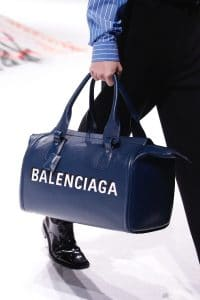 Balenciaga Blue Logo Duffle Bag - Fall 2018