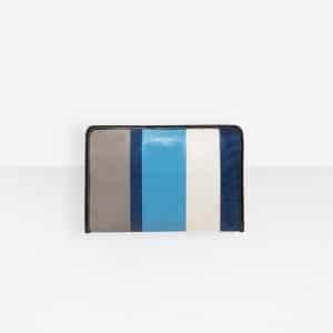 Balenciaga Blue/Grey Bazar Mini Pouch Bag