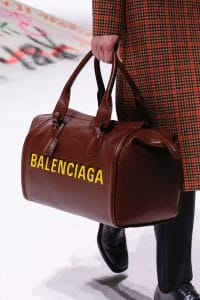 Balenciaga Brown Logo Duffle Bag 2 - Fall 2018