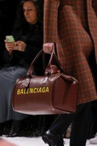 Balenciaga Brown Logo Duffle Bag - Fall 2018