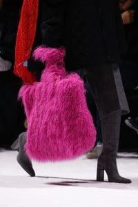 Balenciaga Pink Fur Tote Bag - Fall 2018