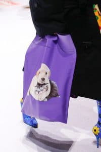 Balenciaga Purple Dog Print Tote Bag 2 - Fall 2018