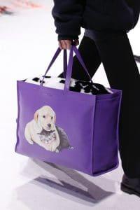 Balenciaga Purple Dog Print Tote Bag - Fall 2018