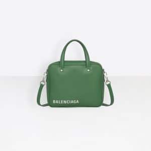Balenciaga Vert Irlandais Triangle Square XS Bag