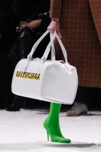 Balenciaga White Logo Duffle Bag - Fall 2018