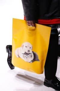 Balenciaga Yellow Dog Print Tote Bag 2 - Fall 2018