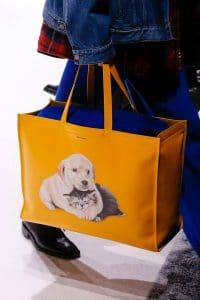Balenciaga Yellow Dog Print Tote Bag - Fall 2018