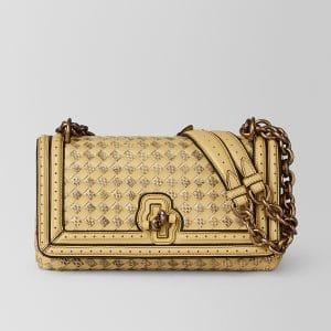 Bottega Veneta Butterscotch Intrecciato Checker Olimpia Knot Bag