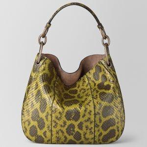 Bottega Veneta Chamomile Anaconda Loop Bag