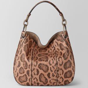 Bottega Veneta Dahlia Anaconda Loop Bag