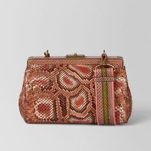 Bottega Veneta Parme Hand-Painted Python Durano Bag