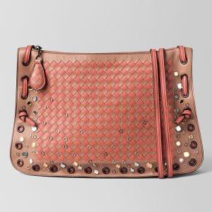 Bottega Veneta Dahlia Hibiscus Intrecciato Palio Crossbody Bag