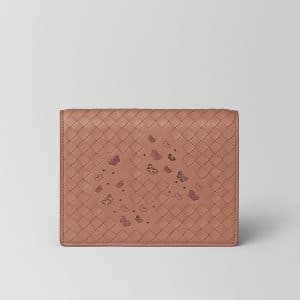 Bottega Veneta Dahlia Intrecciato Nappa Ayers Chain Wallet Bag