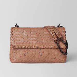 Bottega Veneta Dahlia Intrecciato Nappa Ayers Small Olimpia Bag