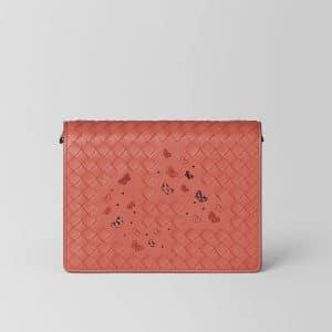 Bottega Veneta Hibiscus Intrecciato Nappa Ayers Chain Wallet Bag
