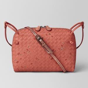 Bottega Veneta Hibiscus Intrecciato Nappa Ayers Nodini Bag