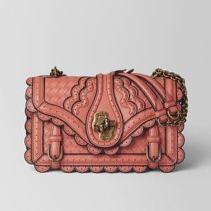 Bottega Veneta Hibiscus Intrecciato Wingtip City Bag