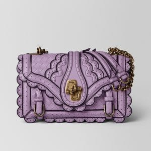 Bottega Veneta Lilac Intrecciato Wingtip City Knot Bag