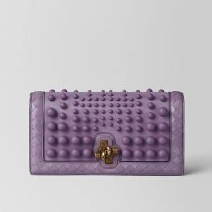 Bottega Veneta Lilac Nappa Sphere Knot Clutch Bag