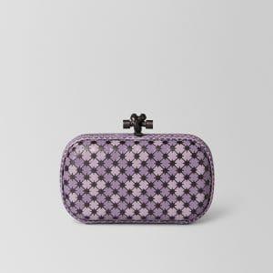 Bottega Veneta Lilac Parme Enamel Knot Bag