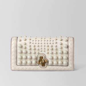 Bottega Veneta Mist Nappa Sphere Knot Clutch Bag