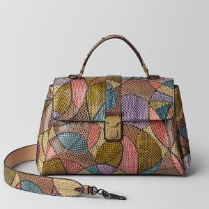 Bottega Veneta Multicolor Ayers Patchwork Medium Piazza Bag