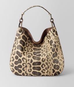 Bottega Veneta Natural Anaconda Large Loop Bag