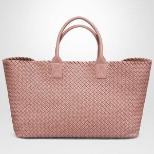 Bottega Veneta Watteau Lambskin Large Cabat Bag