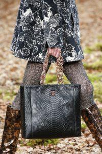 Chanel Black Python Shopping Bag - Fall 2018