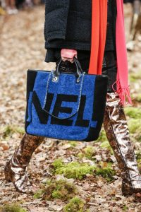 Chanel Blue/Black Shearling Maxi Chanel Shopping Bag - Fall 2018