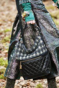 Chanel Blue/Black Tweed/Leather Hobo Bag - Fall 2018