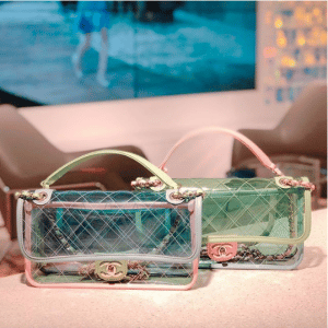 Chanel Blue/Green/Pink PVC Coco Splash Medium Flap Bags