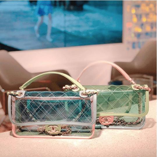 17a63b81d5b7d2 IG: yoohoxxx. Chanel Blue/Green/Pink PVC Coco Splash Medium Flap Bag 2. IG:  groovyhandbags. IG: lz_company. Chanel ...