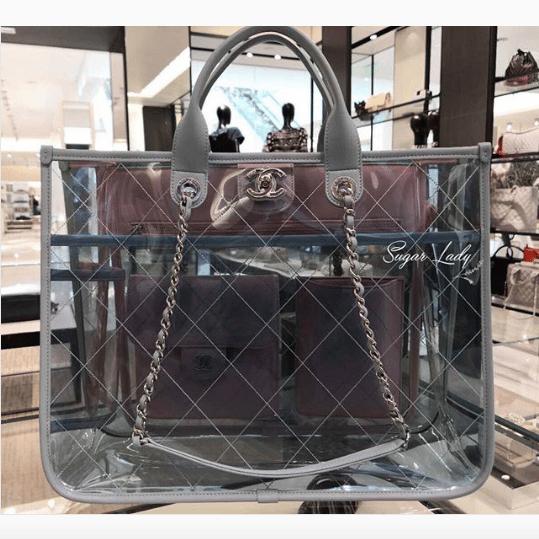c3dabacb5423ee Chanel Blue/Green/Pink PVC Coco Splash Medium Shopping Bag 3. IG:  sugarladyoxox