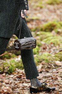 Chanel Brown Embellished Log Minaudiere Bag - Fall 2018