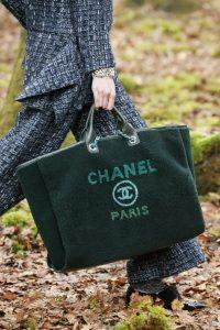 Chanel Green Shearling Deauville Shopping Bag - Fall 2018