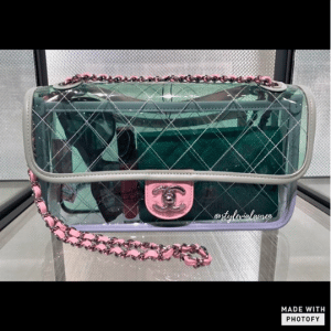 Chanel Green/Pink/Purple PVC Coco Splash Medium Flap Bag