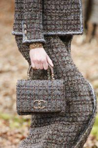 Chanel Grey Tweed Mini Top Handle Bag - Fall 2018