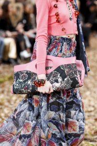 Chanel Pink/Blue Leaf Print 31 Tote Bag 2 - Fall 2018