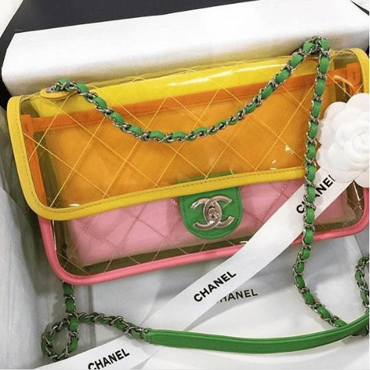 1993a5fd88c6d8 Chanel Blue/Green/Pink PVC Coco Splash Medium Flap Bag 2. IG: groovyhandbags.  IG: lz_company