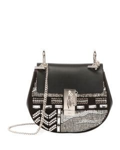 Chloe Black Embellished Drew Bag