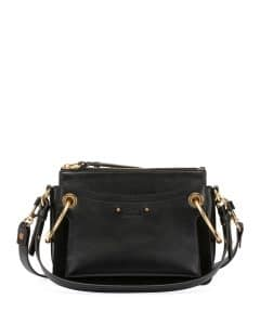 Chloe Black Leather/Suede Small Roy Bag