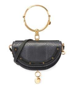 Chloe Black Python Nile Minaudiere Bag