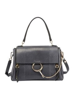 Chloe Black Python/Calfskin Faye Day Bag