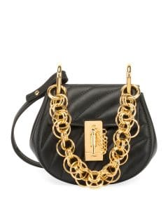 Chloe Black Quilted Mini Drew Bijou Bag