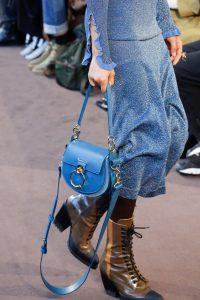 Chloe Blue Saddle Bag - Fall 2018